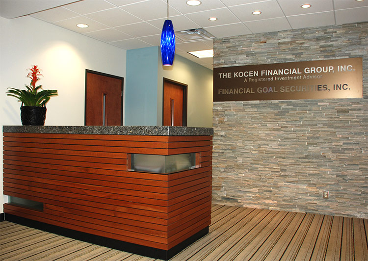 Kocen Financial Group, Rancho Mirage, California. This Project Consisted Of  A Build Out Of A Raw Space Into A New Office Suite For A Financial Planning  ...